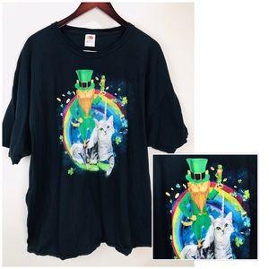 Other - ‼️Cat Unicorn Leprechaun Rainbow T-Shirt SZ 3xl